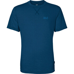 Jack Wolfskin Crosstrail Lyhythihainen paita Miehet, poseidon blue